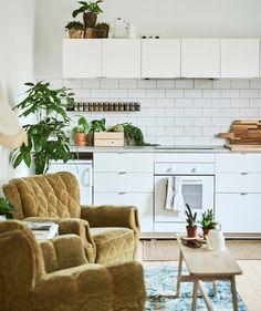 good kitchen! Hippie Home Decor, Cute Home Decor, Cheap Home Decor, Ivar Regal, Söderhamn Sofa, Minimalist Home Interior, Home Decor Bedroom, Home Decor Accessories, Home Remodeling