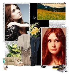 """Karen Gillan"" by matelda ❤ liked on Polyvore featuring ONLY, Hudson Jeans, Dorothy Perkins, Mulberry, Silvian Heach, I Am Acrylic, Margarita and Laura Mercier"