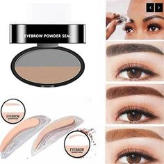 Waterproof and long lasting eyebrow stamp. Shape your eyebrows in seconds instead of minutes. Natural looking eyebrows for everyday wear. Sparse Eyebrows, Thin Eyebrows, Natural Eyebrows, Eye Brows, Eyebrow Stamp, Eyebrow Makeup, Eyebrow Tips, Threading Eyebrows, Brow Shaping