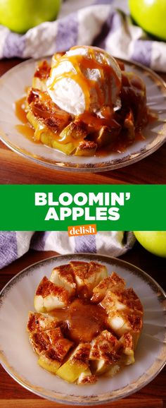 Apples The caramel drizzle on these Bloomin' Apples will make you believe in love again.The caramel drizzle on these Bloomin' Apples will make you believe in love again. Fruit Recipes, Apple Recipes, Fall Recipes, Dessert Recipes, Cooking Recipes, Dessert Food, Dessert Ideas, Sweet Recipes, Sweets