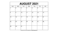Free Calendars To Print, 2021 Calendar, Templates, Stencils, Vorlage, Models