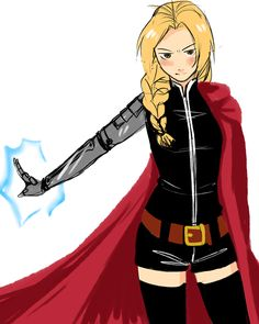 Genderbent Edward Elric.  Can anyone else imagine how much sass he would have as a girl? Ohmygosh.