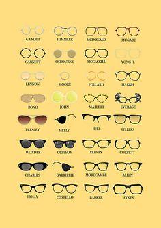 Glasses Print by Stephen Wildish Four Eyes, Buy Glasses, Friday Humor, Optician, Store Design, Mcdonalds, Funny, Specs, Optometry Humor