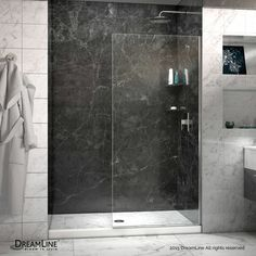 "DreamLine Linea 72"" x 30"" Frameless Shower Door & Reviews 