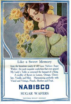 CONDIMENT: Nabisco Sugar Wafers 1905