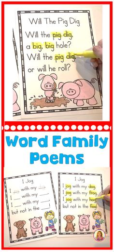 Word Family Poems for Shared Reading