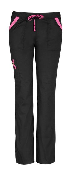Charmed low-rise drawstring cargo pant. #heartsoulscrubs, #bca, #codepink