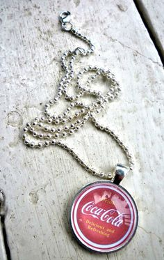 Drink Coca Cola Coke Necklace Red on Etsy