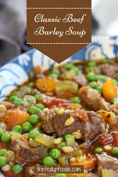 Savor the flavor of this Classic Beef Barley Soup recipe. Tender beef, barley, and fresh vegetables make this one satisfying hearty meal. #BeefandBarley #VegetableBeefSoup #BeefandBarleySoup #FallSoups #ComfortSoups #AutumnSoupRecipes #BestSoups #BeefSoupRecipes #VegetableSoup #HowtoMaketheBestBeefBarleySoup