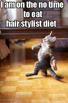 Meme Maker - I am on the no time to eat hair stylist diet Meme Maker!