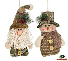 Camo Celebrations  - Mossy Oak Snowman & Santa Set