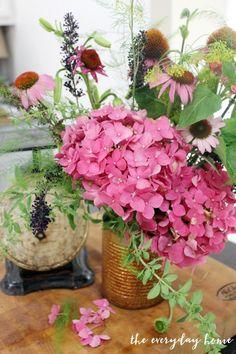 "An Easy Way to Arrange Flowers Using the ""Clock Method""   The Everyday Home   www.everydayhomeblog.com"