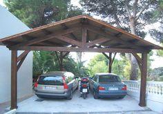 Parking de madera. Carport Sheds, Carport Patio, Carport Plans, Carport Garage, Rv Carports, Carport Designs, Garage Design, Pergola Designs, House Design