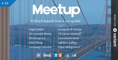 Meetup | Conference & Event Landing Page With Page Builder #Bootstrap, #Builder, #Conference, #Convention, #Event, #Exhibition, #Landing, #Lecture, #MediumRare, #Meeting, #Political, #Seminar, #Summit, #Variant, #Webinar http://goo.gl/hhzJB3