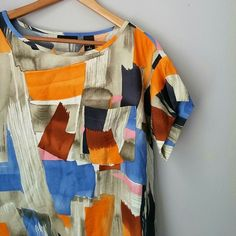 Abstract pocket dress Excellent condition! So cute and fun!! Comfy too! No belt included but has optional belt loops.   Bundle for best deals!! Lots of items available starting at $5! Hundreds of items available for discounted bundles! You can get lots of items for a low price and one shipping fee! New York & Company Dresses