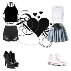 """""""Shadows"""" by madisonmiller-1121 ❤ liked on Polyvore featuring Topshop, Miu Miu, Thakoon and Converse"""