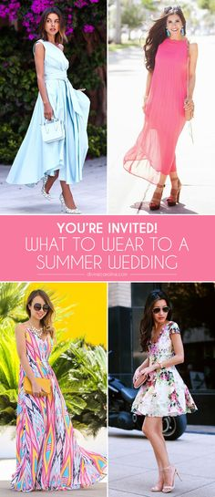 Wedding season has arrived, which means toasts, gifts, and dances are in your future but first a lot of standing in front of your closet. From black-tie optional to beach weddings, picking what to wear to a summer wedding can be confusing, not to mention overwhelming. So, we've rounded up 15 outfit ideas courtesy of our favorite bloggers.
