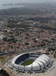 Populous completes Arena das Dunas for FIFA World Cup 2014 Stadium Architecture, Gothic Architecture, Amazing Architecture, Architecture Details, Amazing Buildings, Rio Grande Do Norte, World Cup 2014, Fifa World Cup, World Cup Stadiums
