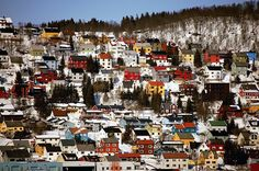 colorful houses in tromse, norway | Little Creation : putz house village