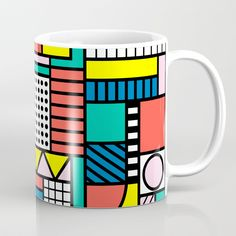 Buy Memphis Color Block Coffee Mug by polita. Worldwide shipping available at Society6.com. $15.99