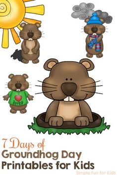 Simple Groundhog Day Craft | Easy peasy, Craft and Activities