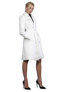 One good thing about a trench coat when you wear it you feel OK. This chic, sexy versatile white trench coat can be thrown over anything, instantly elegantly transforming any outfit. Made out of double thread cotton this is the perfect trans-seasonal trench coat.