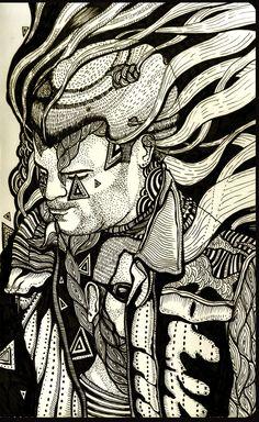 Ilustración de Andon Georgiev en una Moleskine