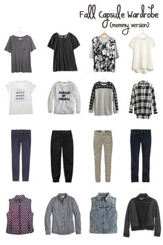 I'm so ready for #fall and fall fashion! This #capsule wardrobe is perfect for day-to-day mommy style.