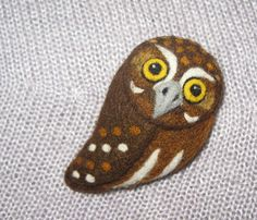 Your place to buy and sell all things handmade Elf Owl, Wool Felt, Felted Wool, Needle Felted Owl, Small Owl, Felt Brooch, Felt Art, The Elf, Arts And Crafts
