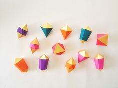 Geometric shapes for garland or decoration by SilverlakeSisters, $24.95