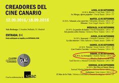 Este sábado, 17 de septiembre, 'La trompeta' de Blablu y Andrés Nieves se proyecta en el ciclo de Creadores del Cine Canario, que se está celebrando esta semana en la Sala Berlanga (Madrid). El domingo, turno para 'Golosinas', de Iván López. #CanariasenCorto.
