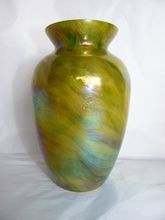 Rindskopf Marmorietes glass vase from Curious Cat Antiques at rubylane.com