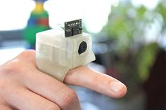 Researchers have developed a camera-equipped ring that could help #visuallyimpaired and #blind people to identify objects and read text. It's called EyeRing. Pinned by www.deafaction.org @deafaction
