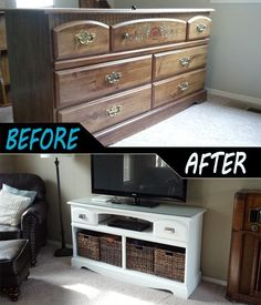 10 Excellent Furniture Makeover DIYs - Home - Furniture Trendy Furniture, Shabby Chic Furniture, Furniture Projects, Vintage Furniture, Cool Furniture, Bedroom Furniture, Furniture Websites, Furniture Stores, Furniture Online