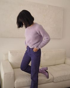 All purple monochrome one color purple outfit street style 2018 fall outfits