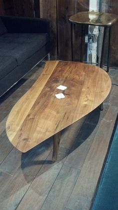 Mango wood coffee table - handmade, finished in linseed oil.