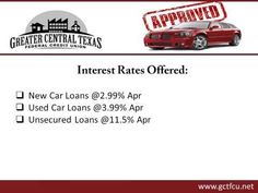 Secured Auto Loan Central Texas - Contact at (254) 690 - 2274 Or Visit - https://www.gctfcu.net
