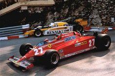 Gilles Villeneuve won the Monaco GP 1981 . Ferrari Racing, Ferrari F1, F1 Racing, Road Racing, Gilles Villeneuve, Monaco Grand Prix, Indy Cars, Car And Driver, Vintage Racing