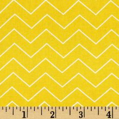 Zig Zag Chevron Sun from @fabricdotcom  Designed for dear Stella, this fabric is perfect for quilting, apparel and home décor accents.  Each stripe is printed horizontal to the selvedge as pictured.  Colors include yellow and white.