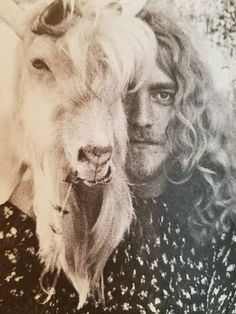 "desmondsprettyface: "" Beardy Robert Plant with beardy goat. Aesthetic. """