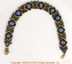Ukrainian Gherdany Beadwork  # GBR13-005 handmade in Ukraine. Originally sold on http://www.allthingsukrainian.com/Jewelry/index.htm