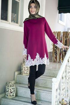 Renklerevi Tesettür Giyim ~ Fahrunnisa Mercan Fuşya Tesettür Tunik Hijab Fashion, Fashion Outfits, Womens Fashion, Hijab Trends, Birthday Girl Dress, Beautiful Hijab, Mode Hijab, Long Tops, The Dress