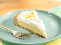 Frozen Lemon Cream Pie recipe from Katie Lee via Food  - Network - could totally do this with Lime!
