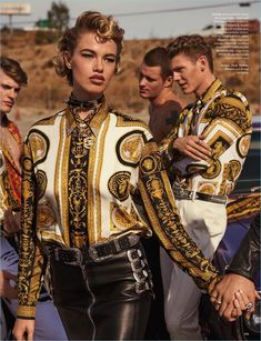 Hailey Clauson Models Biker Glam Fashions for GQ Style UK - Fashion For Women İdeas Versace Fashion, Uk Fashion, Fashion Brands, Vintage Fashion, Womens Fashion, Fashion Design, Biker Fashion, Gq Style, Fashion Poses