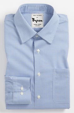 Sky Blue Gingham Shirt http://www.byronshirts.com/products/sky-blue-gingham-shirt  #fashion #menstyle #mensfashion #styleformen