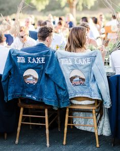 Personalized bridal jackets are the coolest new wedding fashion trend. Here, see examples of the chicest personalized bridal jackets—made from leather, denim, and more—here! Cute Wedding Ideas, Wedding Goals, Wedding Trends, Wedding Styles, Wedding Planning, Denim Wedding, Wedding Jacket, Wedding Groom, Groom In Jeans