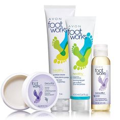 Foot Works Beautiful Feet Collection. Scents of lavender and peppermint in your favorite Foot Works products.A $23.50 value ON SALE now for $9.99 in Campaign 23, 2016.  Great gift set.  Get yours online at http://youravon.com/jmagallanes #FootWorks #Collection #Avon GiftSet