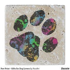 Shop Paw Print - Gifts for Dog Lovers Stone Coaster created by PawArt. Cat Dad, Dog Mom, Paw Print Art, Stone Coasters, Dog Lover Gifts, Cat Lovers, Great Gifts, Pets, Animals And Pets