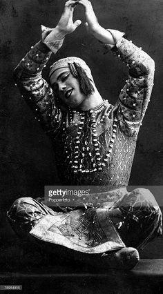 Russian dancer, Vaslav Nijinsky, (1890-1950), performing in - Les Orientales+ a Siamese ballet