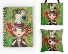 With Love for Books: Lady Hatter Notebook, Pillow & Tote Bag Giveaway